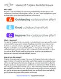 Collaborative Work Rubric Progress Cards