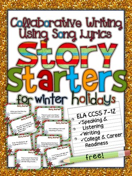 Collaborative writing using song lyrics story starters for winter collaborative writing using song lyrics story starters for winter holidays stopboris Images