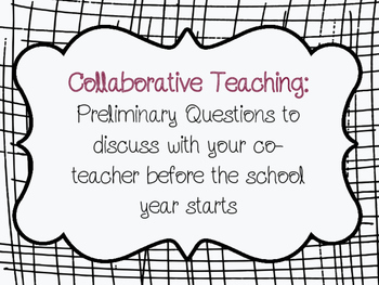 Collaborative Teaching Discussion Questions