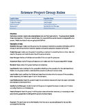 Collaborative group or project based learning role descriptions