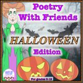 Collaborative poetry activity, Halloween, poetry writing activity