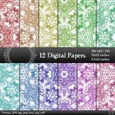 Collag Page Lace Layout Flower Paper Scrapbook Graphics  D