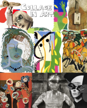 Collage - Art History - Major Artists - Assemblage - Montage - FREE POSTER