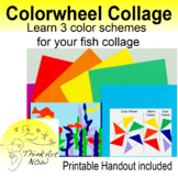 Collage Color wheel and Fish Art