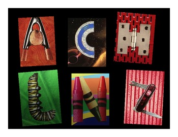 Collage alphabet letters for clip art or printing