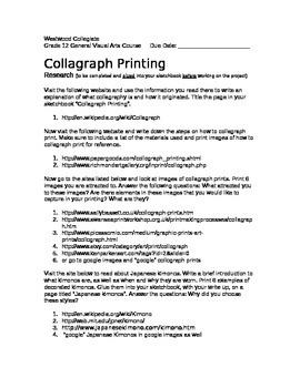 Collagraph Printing