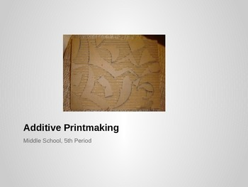 Collagraph Printmaking Lesson Plan - Middle & High School