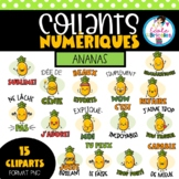 Collants numériques (ananas) - french digital stickers