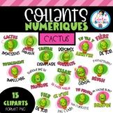 Collants numériques cactus (french digital stickers)