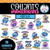 Collants numériques hiboux (French digital stickers)