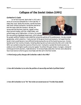 Collapse of Communism in Soviet Union - Love me some Gorbachev!