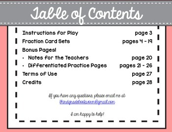 Collect 4! {Fractions on a Number Line & Improper Fractions}