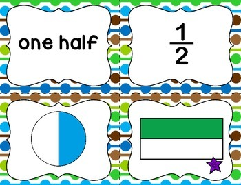 Collect 4! {Halves, Thirds, and Fourths}