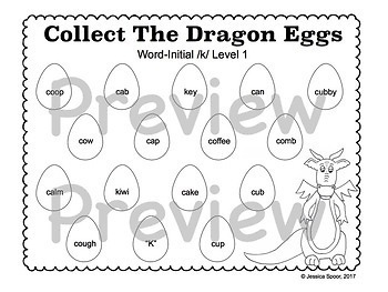 Collect The Dragon Eggs: Articulation Smash Mats for /k, g/
