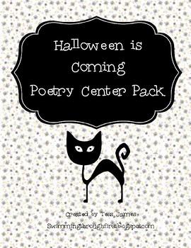 Halloween Is Coming Poetry Packet