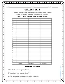 Collect and Analyze Data (10 different bar graph graphic organizers)