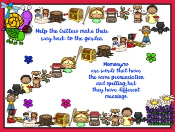 Collect the Critters: Homonyms and Homophones