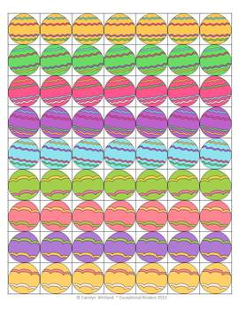 Collect the Easter Eggs Game Freebie