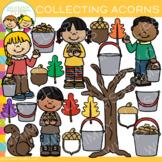 Collecting Acorns Fall Clip Art