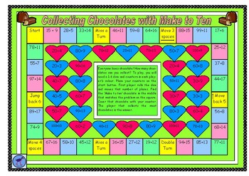 Collecting Chocolates - A Make to Ten Maths Board Game