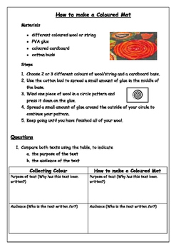 Collecting Colour Comprehension and Procedure
