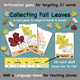 Collecting Fall Leaves - Speech & Language Activity