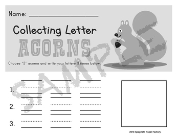 Collecting Letter Acorns