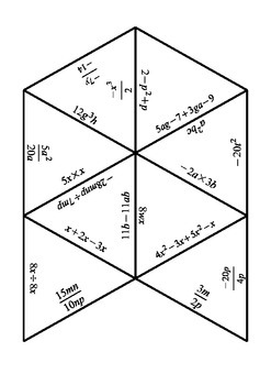 Collecting Like Terms Tarsia Puzzle