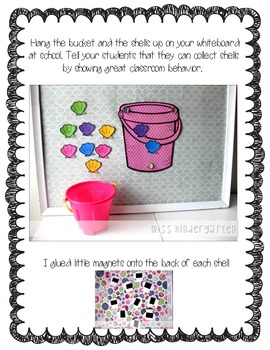 Collecting Shells & Building a Sandcastle {classroom management idea}