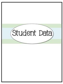 Student Data: EDITABLE!