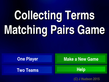 Collecting Terms Algebra Matching Pairs Interactive Game