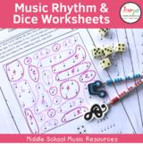 Music Rhythm & Dice Worksheets