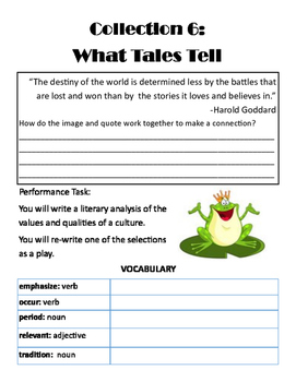Collection 6 Guided Reading