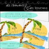 Collection Flamants et toucans - Coins de la classe