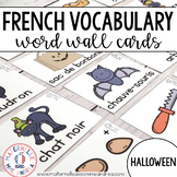 FRENCH Halloween Vocabulary Cards (Cartes de vocabulaire - L'Halloween)