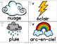 FRENCH Vocabulary Cards - Seasons / Weather (Cartes de vocabulaire - la météo)