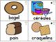 FRENCH Food Word Vocabulary Cards (cartes de vocabulaire - la nourriture)