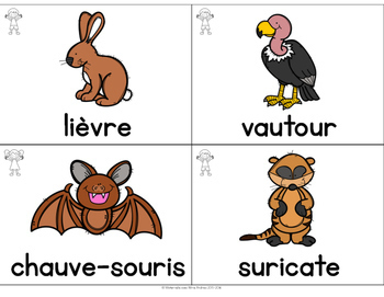 Collection Mur de mots - Les animaux (FRENCH Animal Word Wall Cards)