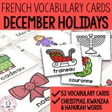 FRENCH Christmas Vocabulary Cards - Cartes de vocabulaire (Noël)