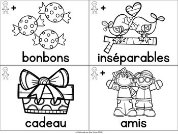 FREE FRENCH Vocabulary Cards - Valentine's Day (cartes de vocabulaire)