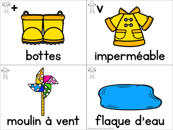 FRENCH Spring Vocabulary Cards (Cartes de vocabulaire - Le printemps)