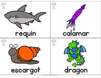 FRENCH Vocabulary Cards (cartes de vocabulaire) - Ovipares et vivipares