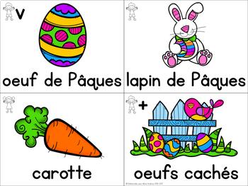FRENCH Easter Vocabulary Cards (Cartes de vocabulaire - Pâques)