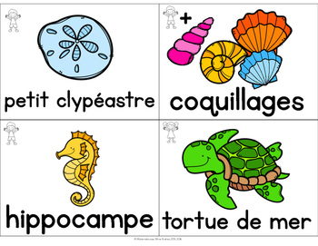 FRENCH Ocean Vocabulary Cards (cartes de vocabulaire - l'océan)