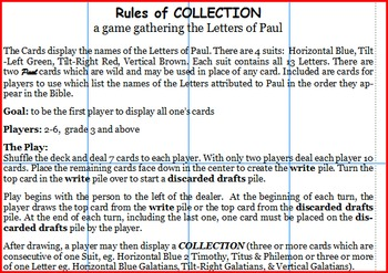 Collection: a game with the Letters of Paul