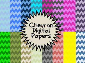 Collection of 18 Chevron Papers FREEBIE