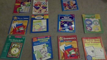 Collection of 2nd and 3rd Grade Math Workbooks