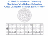 Collection of 42 Blank Mandalas for Colouring [Coloring][M
