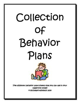 Collection of 5 Behavior Plan Sheets