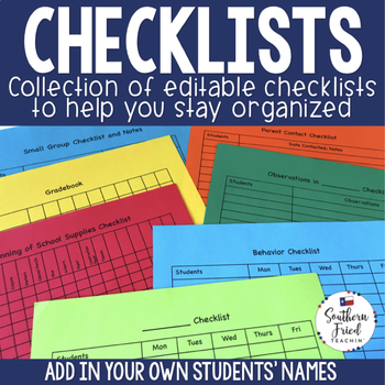 Checklists to Help You Stay Organized